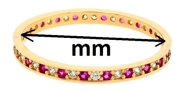 průměr zlaté prstenu